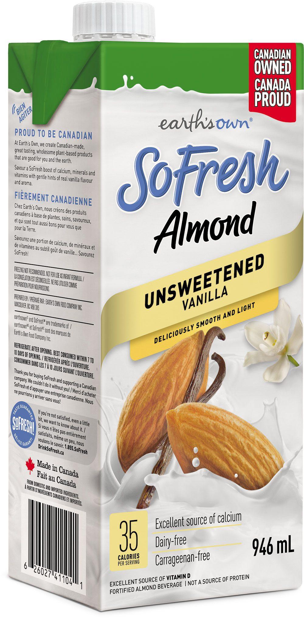 SoFresh Almond – Unsweetened Vanilla 946ml