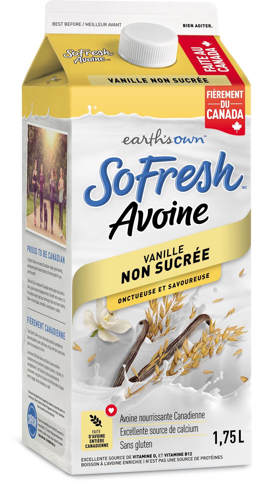 SoFresh Avoine – Non sucrée Vanille 1.75L